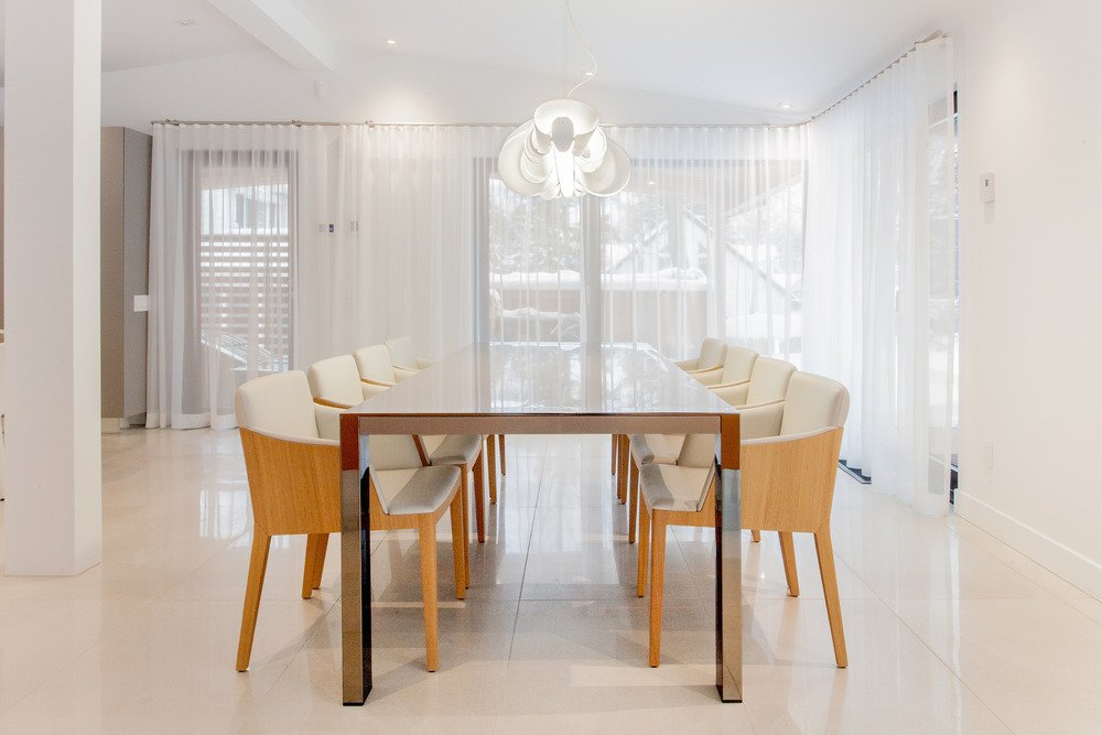 The renovated dining room.