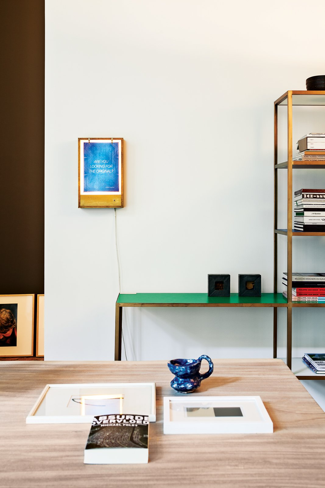 A bookshelf by Muller Van Severen. Tagged: Storage Room and Shelves Storage Type.  Photo 11 of 19 in This House Proves Art Galleries Can Be Super-Friendly