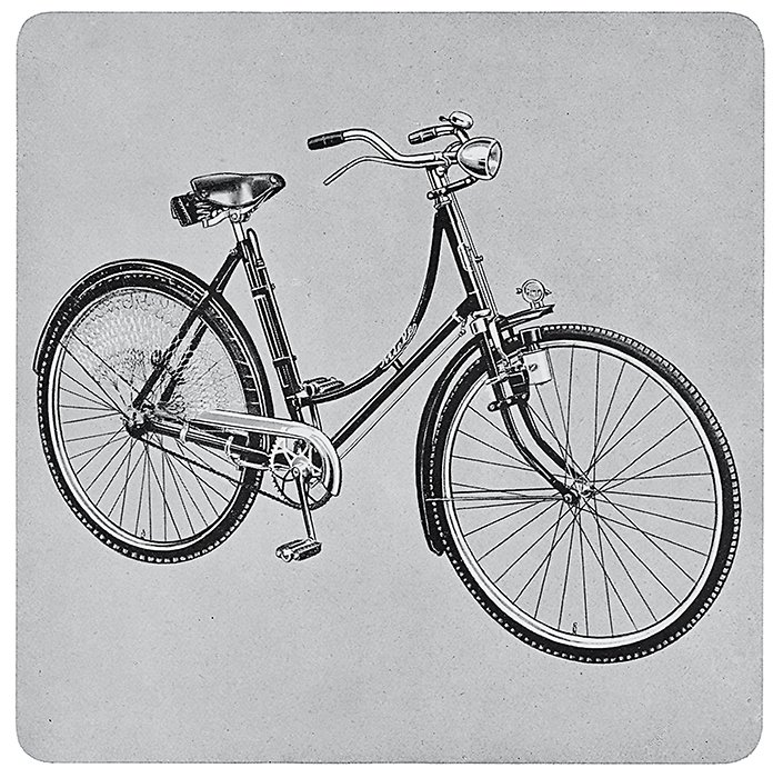 1924 - The production of bicycles starts at Miele's new factory in Bielefeld, Germany. Bicycle, Bicycle by Aileen Kwun