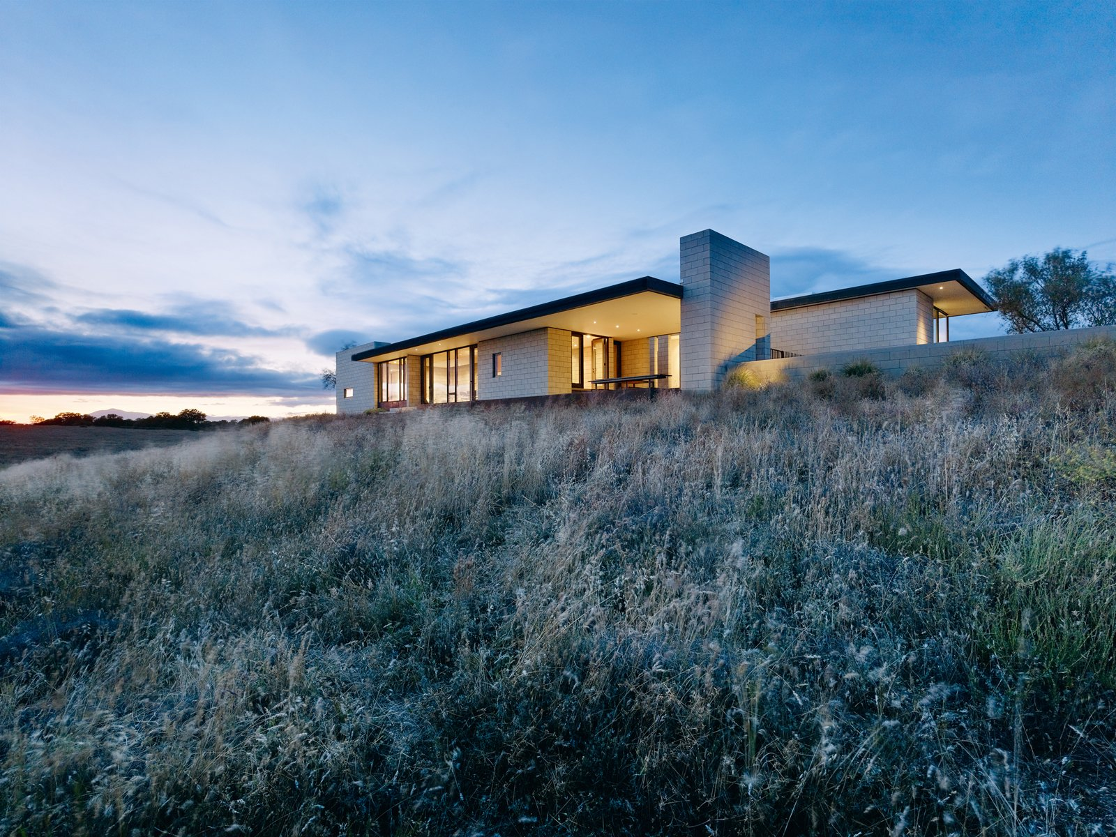 Photograph by Matthew Millman from West Coast Modern by Zahid Sardar, reprint permission by Gibbs Smith Publisher. Tagged: Exterior, Brick Siding Material, and House.  Photo 2 of 5 in 'West Coast Modern' by Zahid Sardar