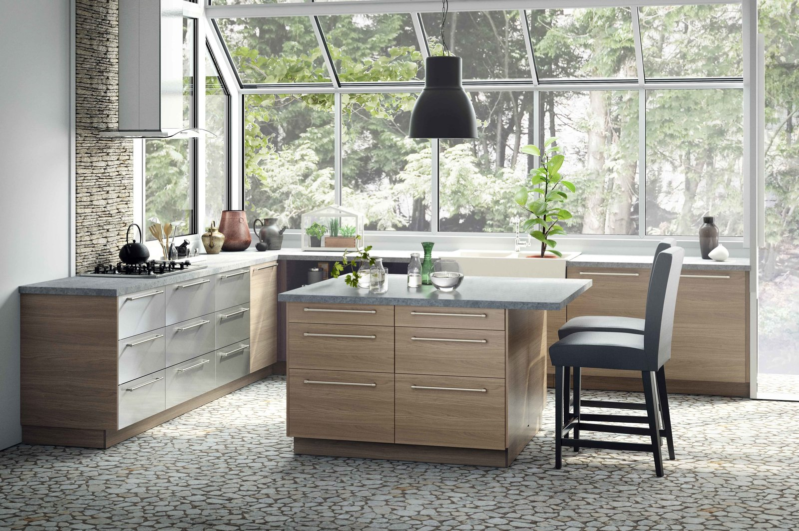 Offering a completely different look, this svelte version features an exhaust hood and modern hardware. You Can Now Build Your Entire Kitchen with Ikea (Appliances Too!) - Photo 2 of 7