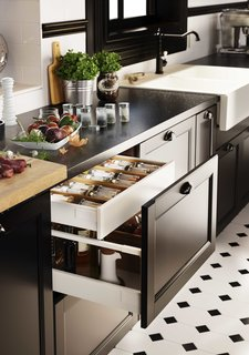 You Can Now Build Your Entire Kitchen with Ikea (Appliances Too!) - Photo 6 of 7 - Another plus: Sektion offers the option of drawers within drawers that allow you to make optimum use of interior spaces, while maintaining a minimal modern exterior.