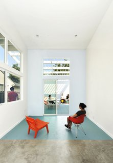 """Vibrant Affordable Housing Prototypes in Los Angeles - Photo 9 of 11 - """"We believe luxury begins with massive natural light, fresh air, seamless indoor-outdoor living and viewing, and maximizing the longest intrasite viewshed,"""" Lehrer says. """"In other words, a view from one end of (even a small) a property to the other."""""""