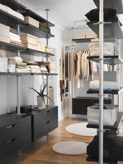 10 Modern Walk-In Closets - Photo 1 of 10 - Stolmen by Ehlen Johansson for Ikea allows for unlimited storage possibilities. You can follow the suggested design or create your own storage combination. The system's open-shelf concept allows for ease of access.