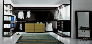 10 Modern Walk-In Closets - Photo 9 of 10 - Anteprima by Pianca, is a fully-customizable storage system. From finishes to units, consumers are able to create their dream walk-in closets.