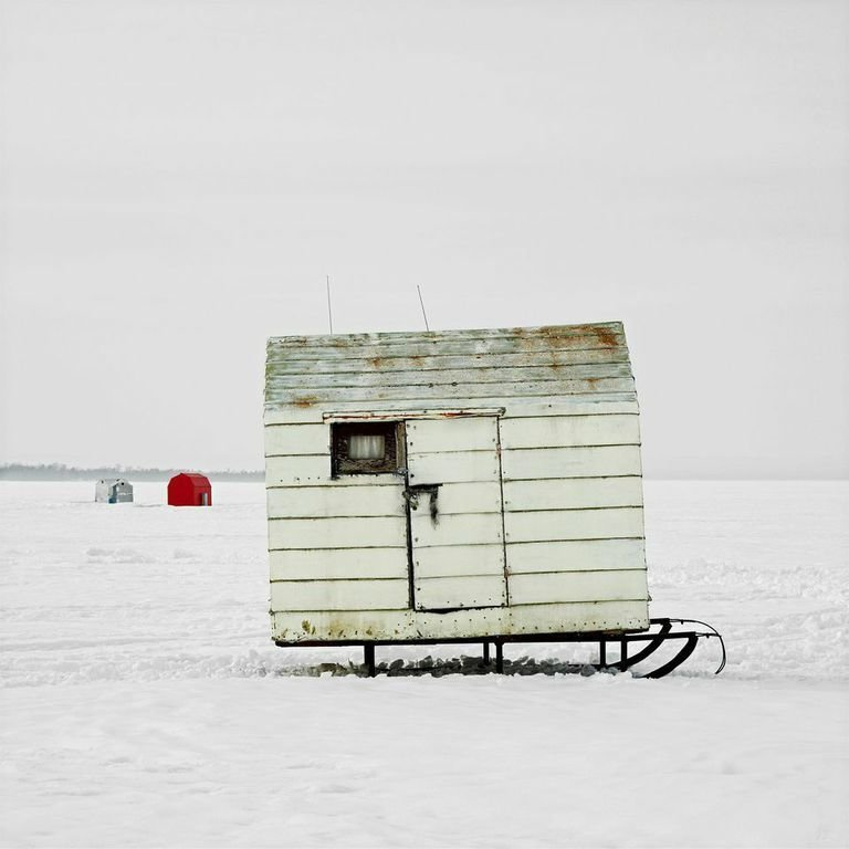 Beaverton, Lake Simcoe, Ontario, 2008  Independence and Mobility by Chris Deam from Architecture Off the Grid: Quirky Ice Huts Dot Canada's Frozen Lakes