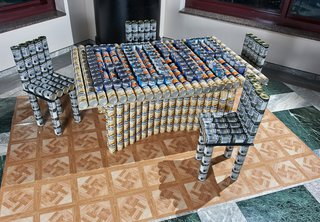 New York's 20th Annual Canstruction - Photo 2 of 3 - Weidlinger Associates' entry into the Canstruction competition.