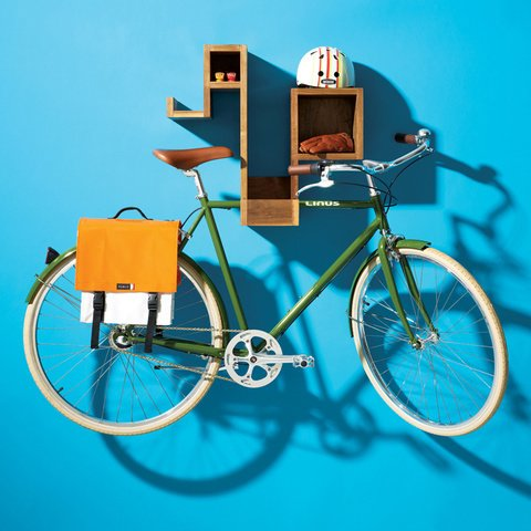 For those who need design pieces to be multifunctional, the Pedal Pod boasts ample cubby space to stash odds and ends along with a rubber-lined roost that suspends your bike, freeing up desirable floor real estate.