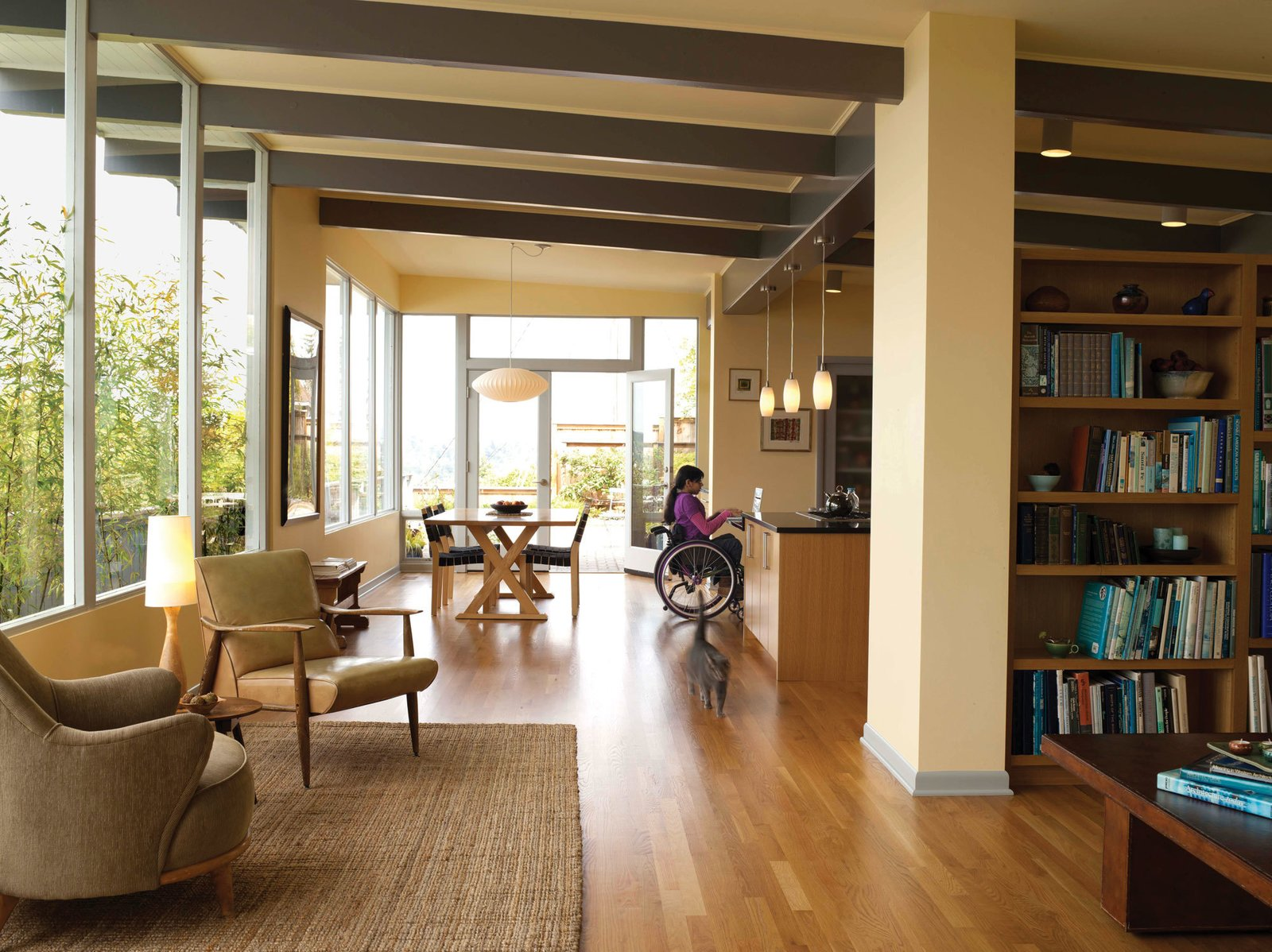 The respective work of Karen Braitmayer and Erick Mikiten—wheelchair users as well as architects—offer people of all abilities the opportunity to live in beautiful, thoughtfully conceived spaces. They'll join us for a conversation about the intersection between universal design and environmental sustainability. Braitmayer will also discuss the renovation of her own home, pictured.