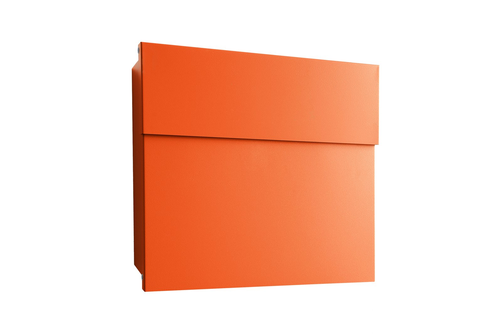Letterman IV in orange by Michael Rösing for Radius-Design, $225 (without post)-This best-selling model is made to meet the deutsche post standards, but we bet it would be equally suitable on this side of the pond. Tagged: Outdoor and Front Yard.  Photo 1 of 6 in 8 Best Modern Mailboxes to Buy from Color Delivery