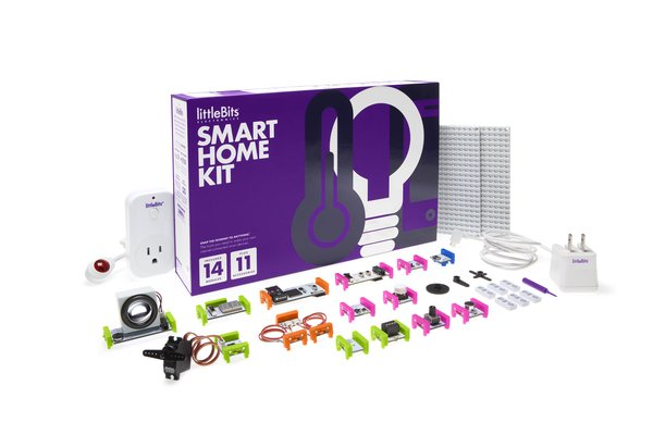 Smart Home Kit by LittleBits, $249 at littlebits.cc  This kit turns a home into a smart home without the wholesale replacement of every fixture. The kit comes with 14 modules that can be combined to turn virtually any object into an Internet-connected device.