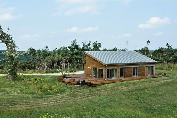 """The house weathered a recent tornado that caused significant damage to much of the property. Ellzey sees the house as an outgrowth of Frank Lloyd Wright's experiments with modular housing: """"For me, it was in that spirit of, what can it mean for homebuilding?"""""""