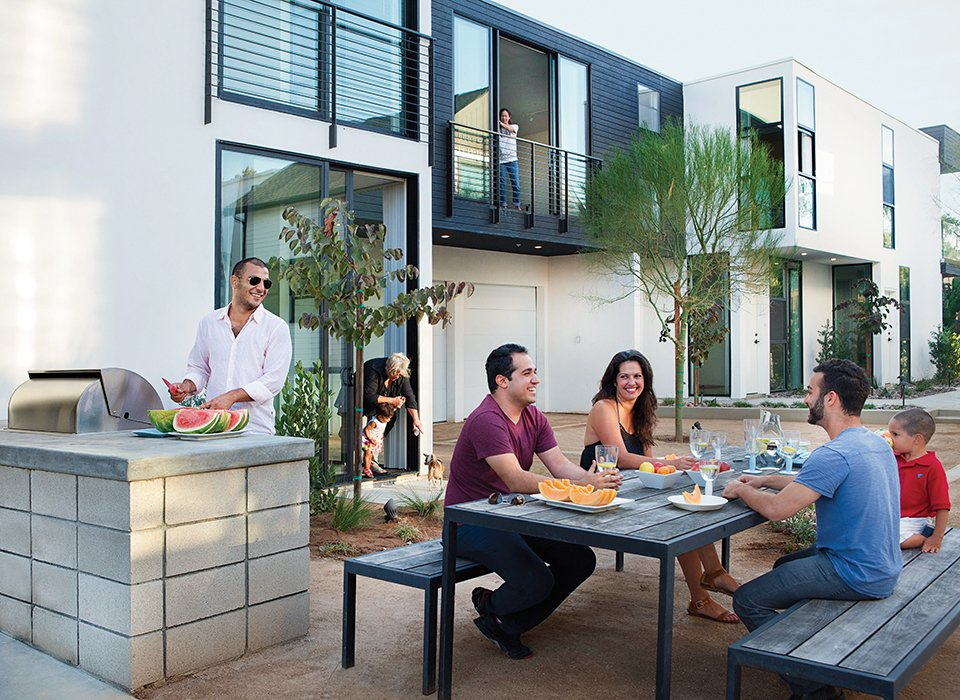 """Adds Soheil: """"Whether they're retirees or students or young couples, the idea was to create an environment they'll never want to leave.""""  Photo 12 of 25 in 25 Blissful Backyards from Architects Dream Up Truly Inviting Housing Options for Aging Population"""