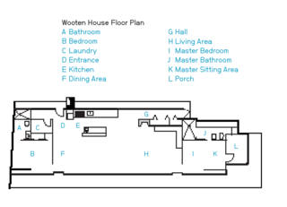The Wooten House Floor Plan.