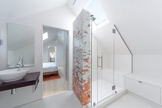 10 Best Modern Showers to Inspire Your Bathroom Renovation - Photo 5 of 10 - An attic in this Seattle home was transformed into a master bedroom with a beautiful ensuite bathroom. The homeowners worked with Boston-based company Artaic on the unique mosaic tiles for the shower.