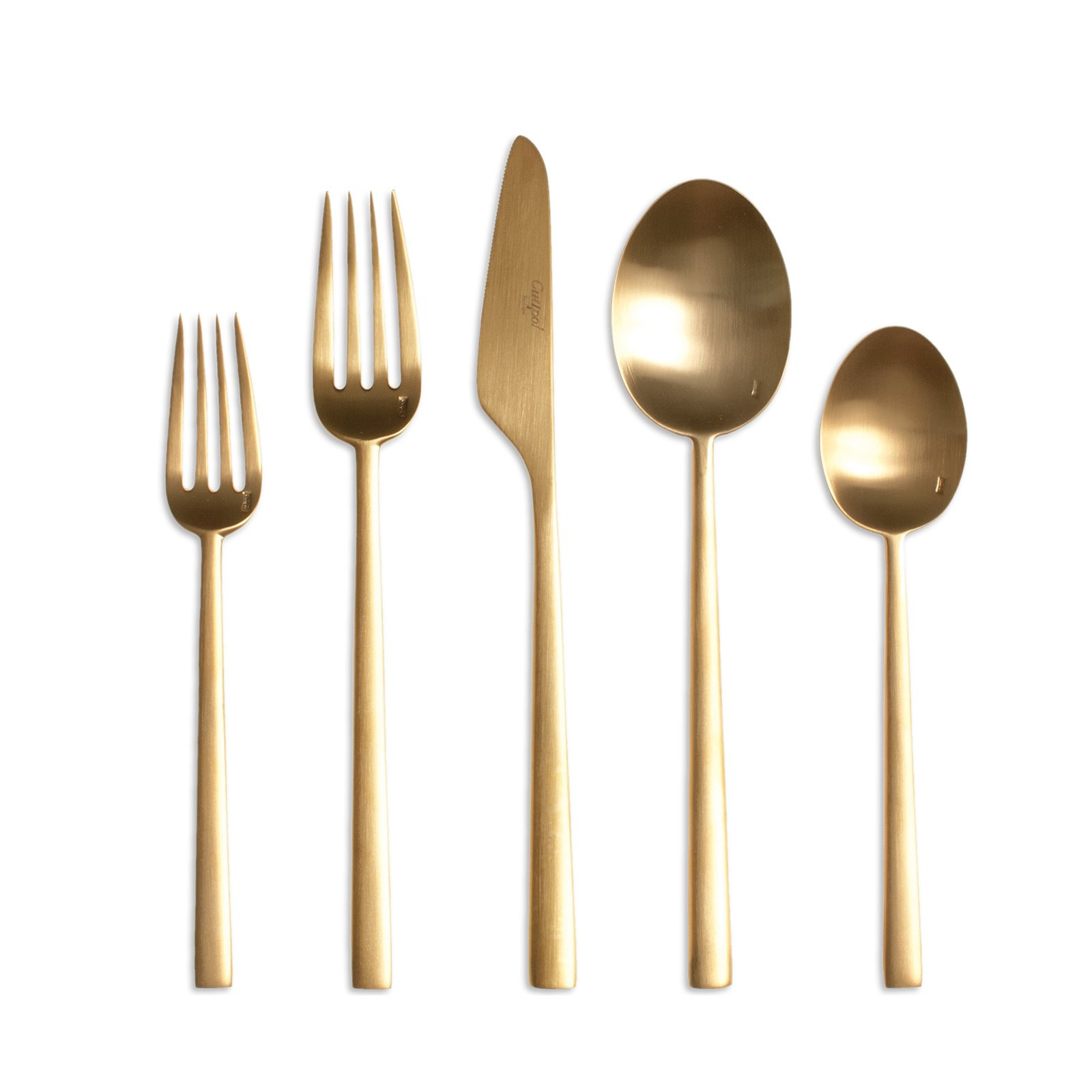 Stainless steel may be the modern flatware standard, but warm-toned metals are making a comeback and we love this line designed by Cutipol, a Portuguese company schooled in the fine art of cutlery craftsmanship.  Fall Design Trend: Gold, Brass, and Copper Accents by Megan Hamaker from New Modern Cutlery Picks
