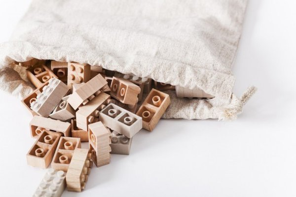 Keep the kids busy with Morkurokku's handmade wooden Legos. Each piece is biodegradable so don't fret if a few get lost along the way. $31 for a set of 50