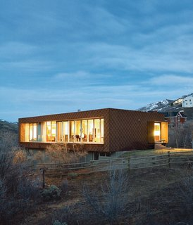 101 Best Modern Cabins - Photo 90 of 101 - In the land of large mountain lodge wannabes, two California natives tuck Utah's first LEED for Homes–rated house onto the side of Emigration Canyon. Photo by Dustin Aksland