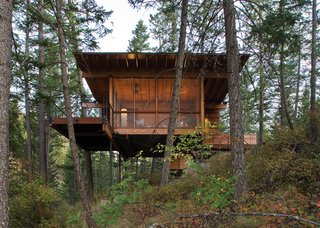 101 Best Modern Cabins - Photo 69 of 101 - Modern in Montana: a Flathead Lake cabin that's a grownup version of a treehouse.