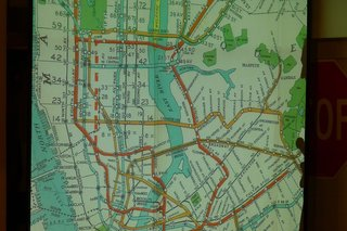 Standing Room Only: The Vignelli Subway Map - Photo 5 of 7 - It's hard to make sense of this early subway map. Photo provided by the New York Transit Museum.