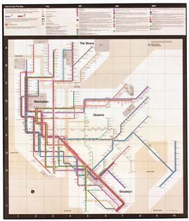Standing Room Only: The Vignelli Subway Map - Photo 6 of 7 - The 1972 Vignelli map. Provided by the New York Transit Museum.