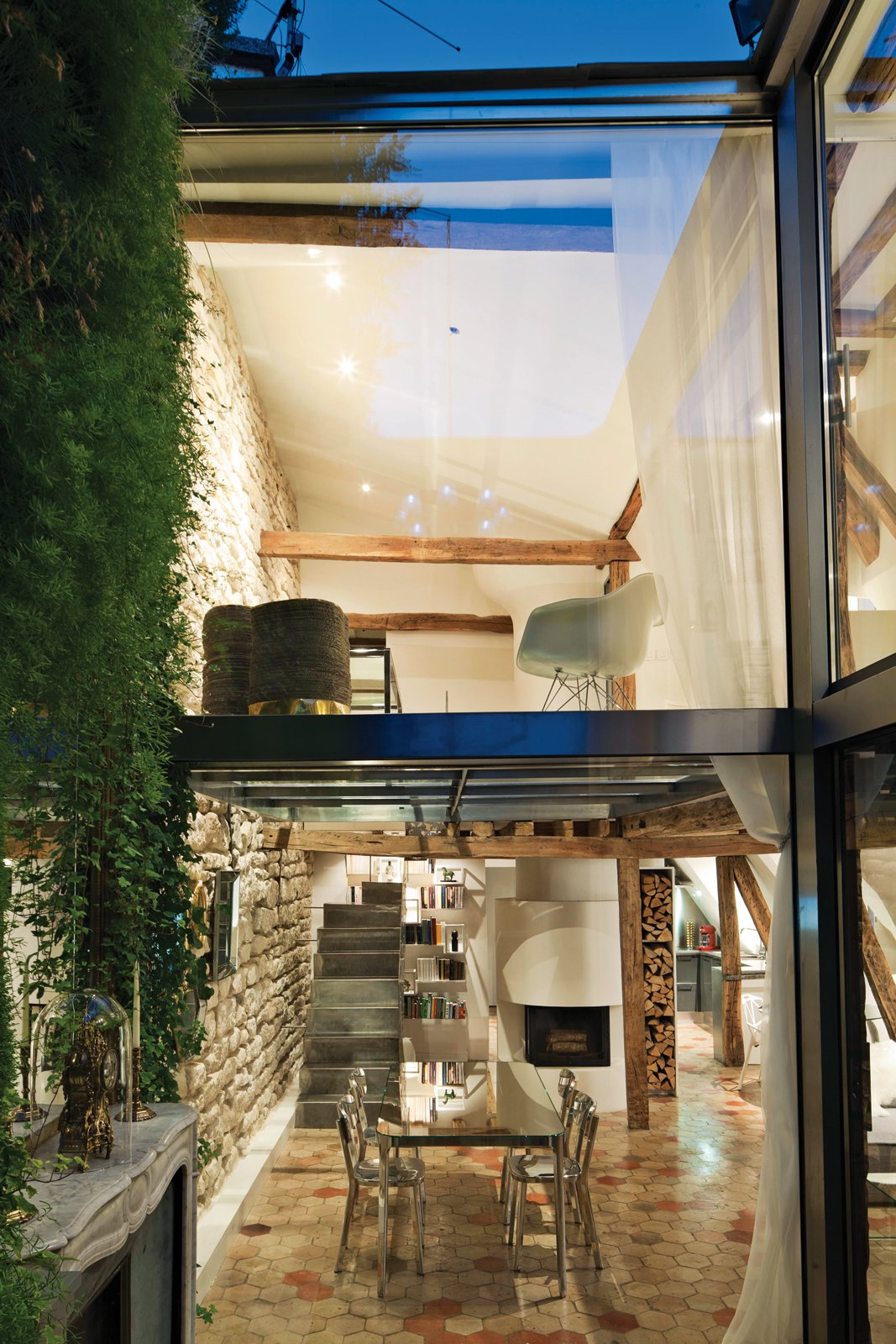 The dining room and upstairs view from the courtyard. 127+ Inspiring Interior Ideas by Dwell
