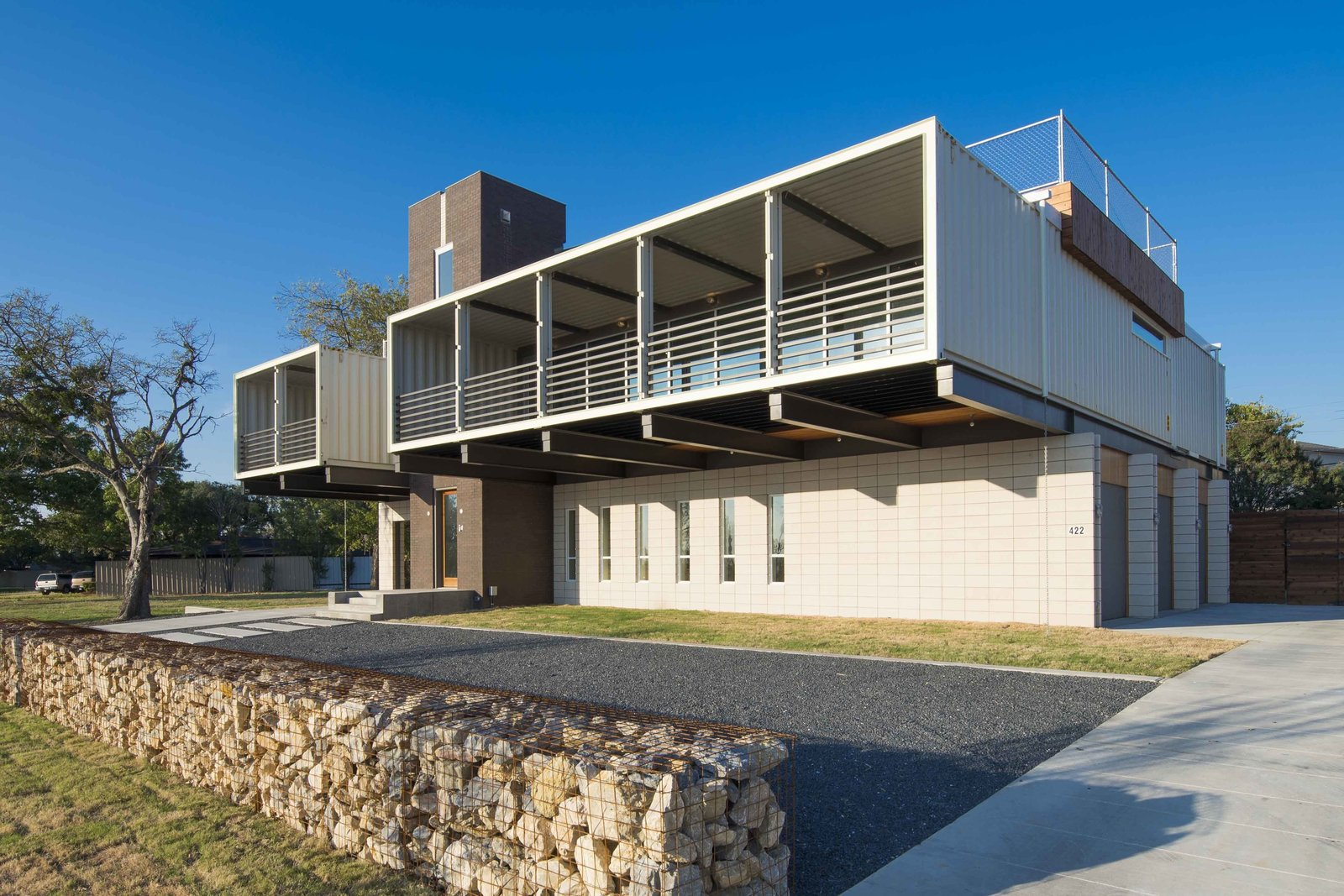This house was built out of 14 shipping containers - Homes made out of containers ...