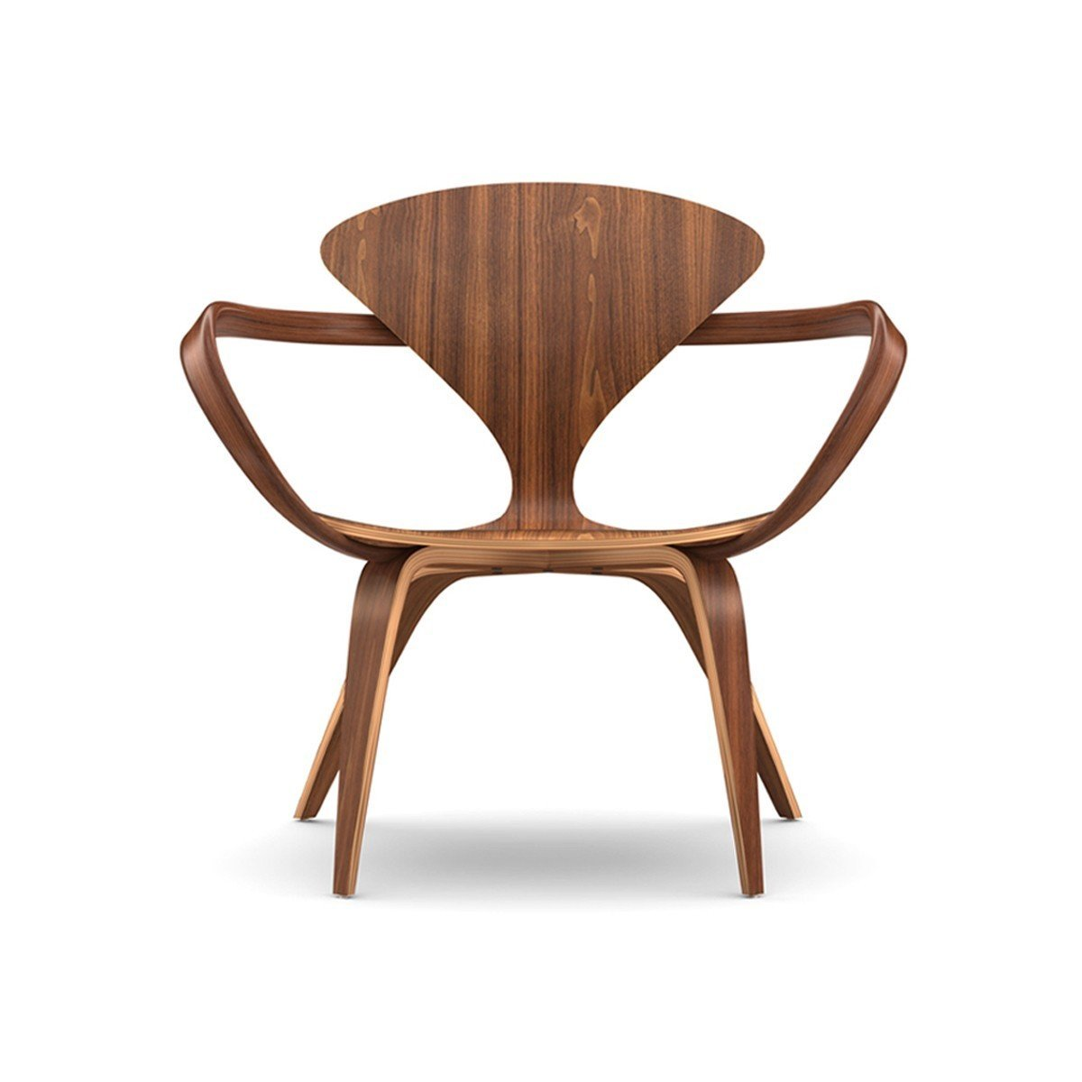 Connecticut. Benjamin Cherner reproduces the iconic designs of his father, Norman, for the Cherner Chair Company, based in Ridgefield, Connecticut. The furniture, like this lounge arm chair, sports organic shapes made in molded plywood with a natural walnut finish.