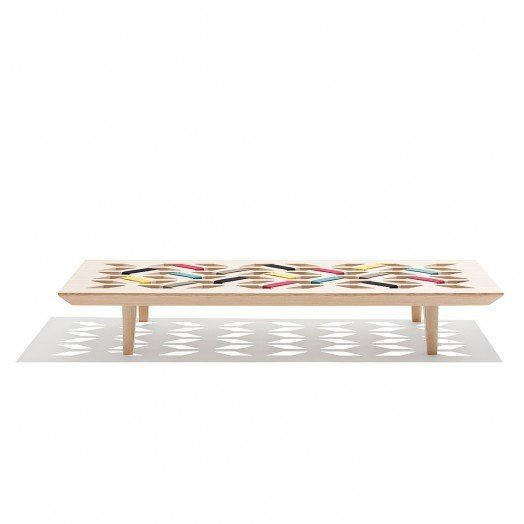 Kilim by Nina Brunn-A daybed inspired by Danish furniture and Middle Eastern patterns.