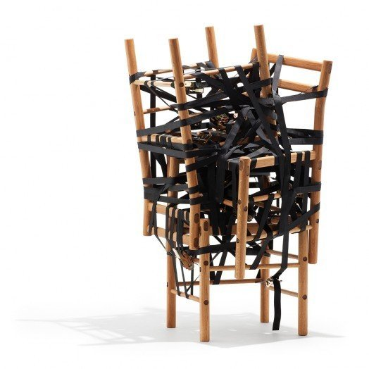 Danish Crafts Announces Mindcraft13 for Salone - Photo 5 of 13 - Relatives by Rasmus Bækkel Fex-A series of chairs combined in different ways to achieve different functions.