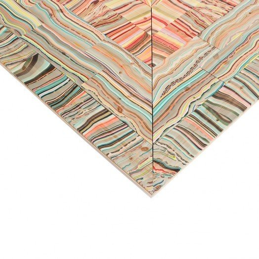 Danish Crafts Announces Mindcraft13 for Salone - Photo 8 of 13 - Marbelous Wood – Refraction by Pernille Snedker Hansen-A floor and wall installation inspired by refracted light.