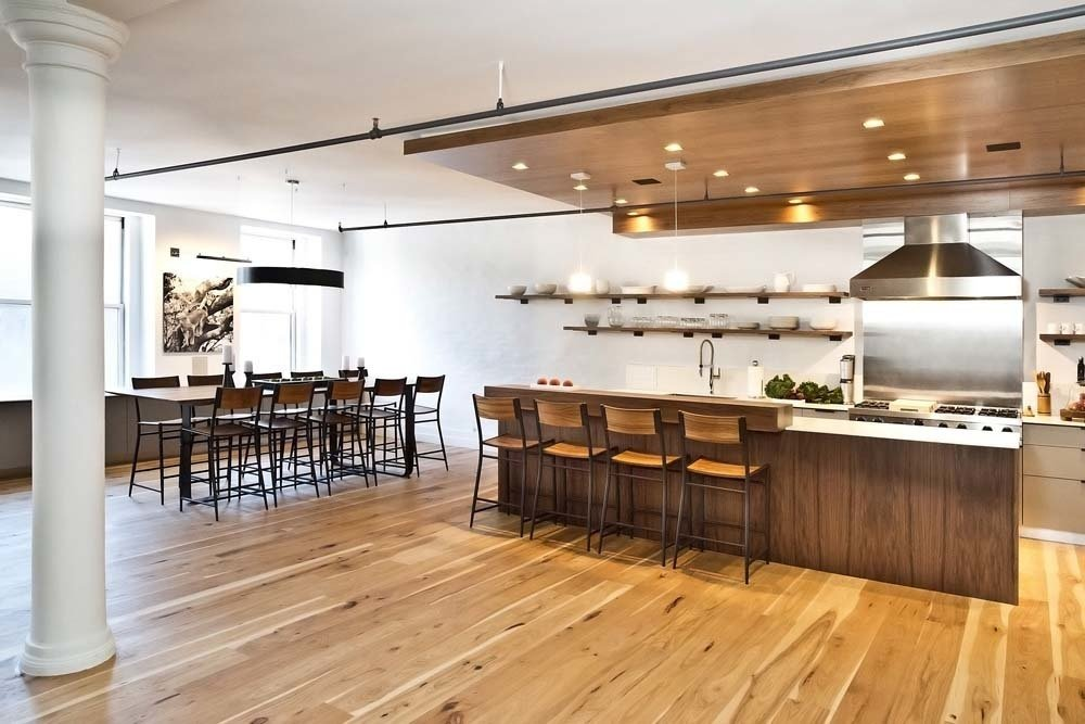 Dropped Ceiling Kitchen Nyc Loft With A Spacious Party Ready Kitchen By Allie Weiss