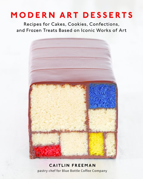 Modern Art Desserts will be on sale April 16th from Random House Books, $25<br><br>All images reprinted with permission from Modern Art Desserts: Recipes for Cakes, Cookies, Confections, and Frozen Treats Based on Iconic Works of Art, by Caitlin Freeman, copyright (c) 2013. Published by Ten Speed Press, a division of Random House, Inc.