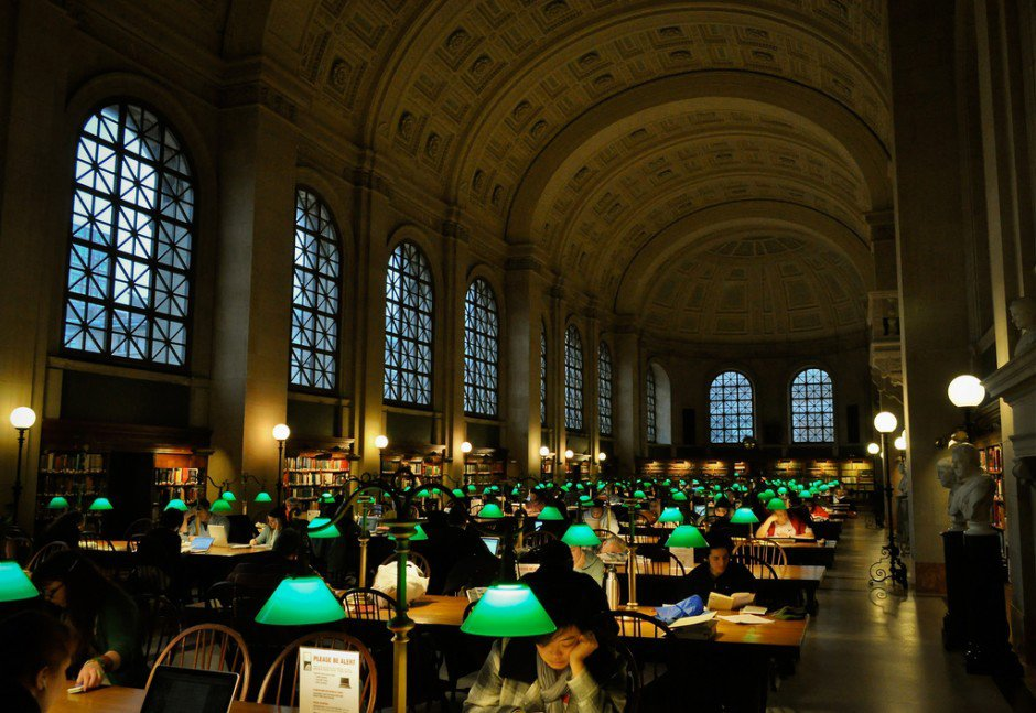Boston Public Library in Boston, USA-Opened in 1848, the Boston Public Library is the second largest library in the United States, with over 24 million volumes. It was also the first public, free-to-all library, and the first to lend books out to patrons. So, if you've ever had to pay a 13-year-old library fine for those Goosebumps books you borrowed when you were 11, you know who to thank. Photo: R..D
