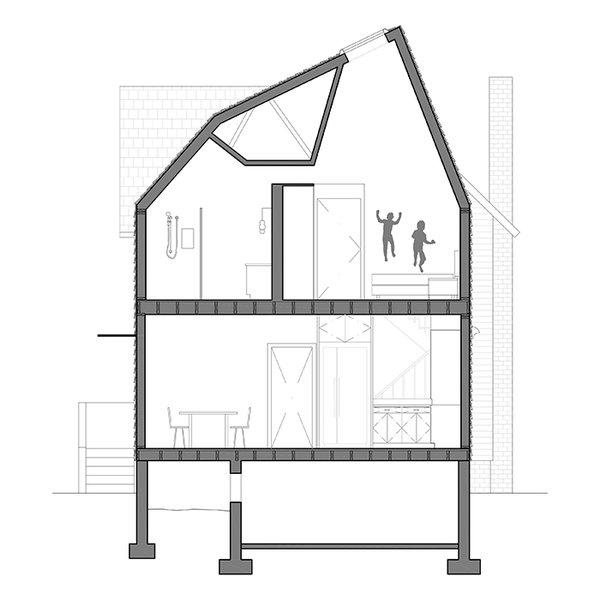 Curry Residence Section: Living-Dining Room; Kitchen; Stairwell; Master Bedroom; Master Bathroom