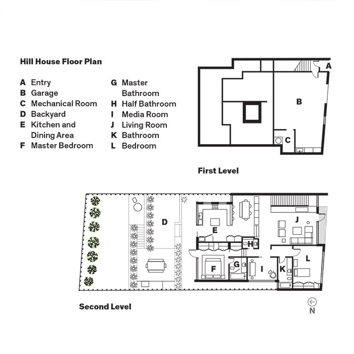 Hill House Floor Plan  Photo 12 of 13 in A Meticulous Renovation Turns a Run-Down House Into a Storage-Smart Gem