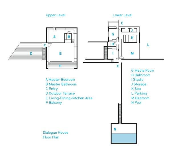 The spacious home's floor plan.