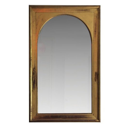 GOTHIC ARCHED MIRROR  This 19th C. Yellow Gold Mirror has a magnificance and minimalism all at the same time.  Fall Design Trend: Gold, Brass, and Copper Accents by Megan Hamaker from Best Mirrors for Decorating