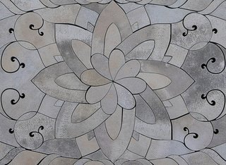 Concrete Rug by Alex Chinneck - Photo 2 of 3 - A detail shot of the delicate design, carved 2 inches deep.