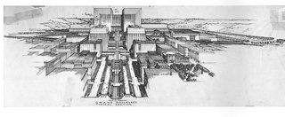 Lloyd Wright's 1925 Civic Center plan. Photo by: Eric Lloyd