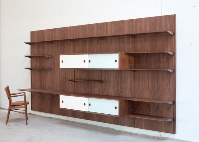 Danish company Onecollection holds the license to Finn Juhl's fantastic mid-century furniture, and they've just released his panel system (which you can see in person at his home, now a museum).  Mid Century by Danielle Yanagui  from Scouting Salone: Shelving and Storage