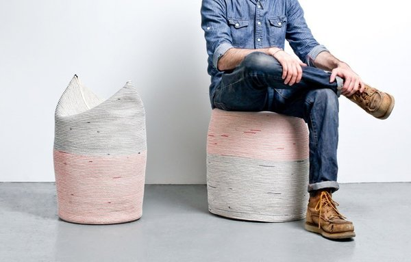 Handcrafted in various dimensions, these sturdy stools are filled with flexible casting foam. Photo by: Michael Popp