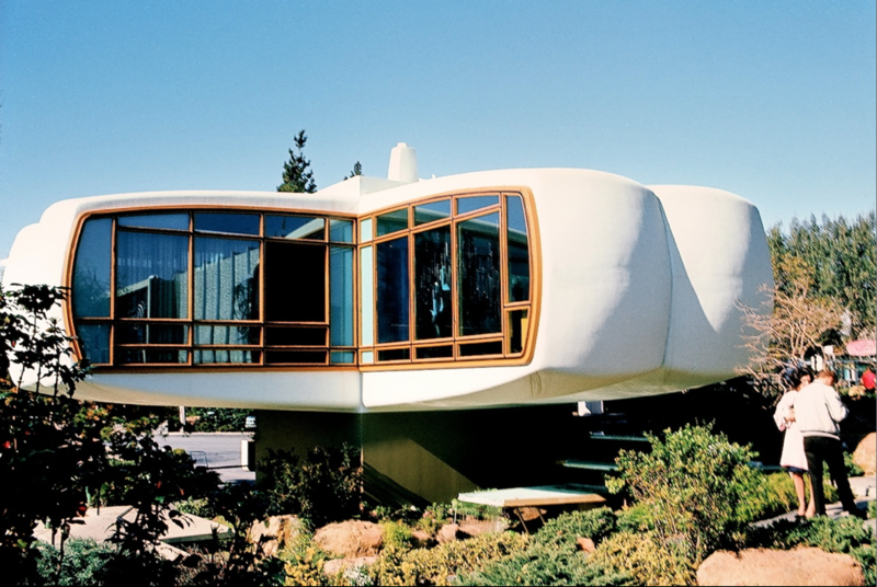 """House of the Future, Disneyland, 1957–1967, Kodachrome image from the Charles Phoenix """"Slibrary"""" Collection."""