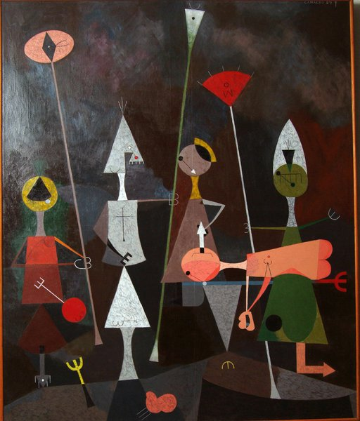 The Burial oil by Jorge Camacho—G. David's primary interest was abstract art. He also had a keen eye for and collected Americana, folk art, and Oriental porcelain.