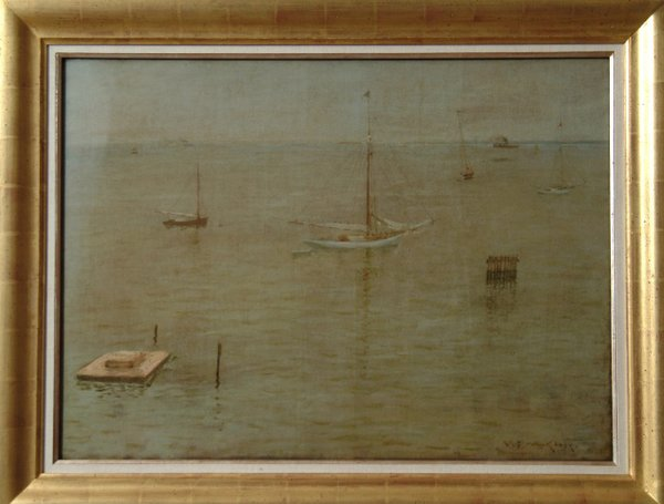 Mist Off Shore oil by William Merritt Chase—G. David's art collection was so famous, when Mist Off Shore and 343 other works were shown in Dusseldorf Germany in 1961, it made headlines in Time magazine.