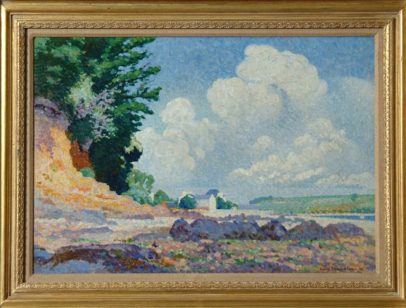 Paysage oil by Henri Edmond Cross—In 1959, G. David offered his mansion and his entire collection, including all his works by Cross, Miró, and Giacometti to the city of Pittsburgh. The city rejected his offer. Too bad, it was their loss.