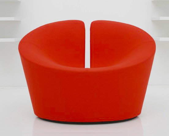 The True Love chair was inspired by the classic heart shape.