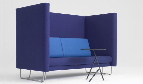 The blocky blue Pacific High sofa.
