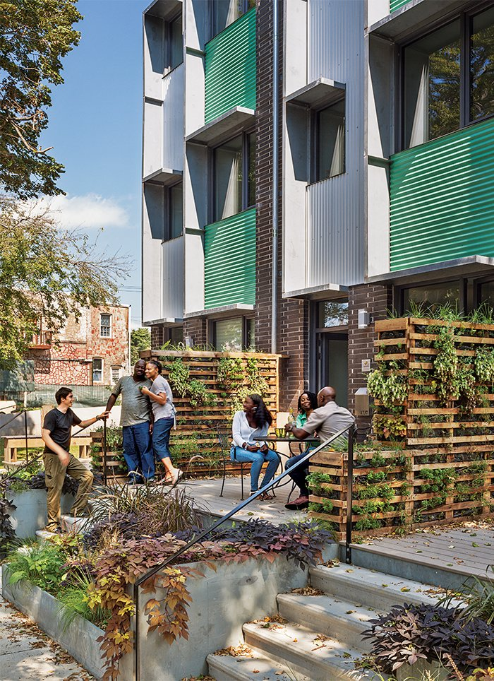 In North Philadelphia, the Belfield Avenue Townhomes were built to Passive House standards, making the project much more energy-efficient than a conventional building. It is one of several multifamily structures that are being built in cities across the country for moderate-income families.