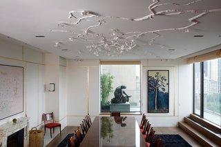 Practice of Patronage - Photo 3 of 8 - Wiseman created a Gingko installation in this New York residence taking care not to obstruct the client's panoramic views of the city. Structural details within the sculpture help to visually expand the space. Photo by: Sherry Griffin/R 20th Century.